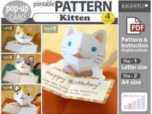 11 Adding Pop Up Kitten Card Template For Free for Pop Up Kitten Card Template