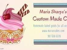 11 Create Cupcake Business Card Template Design Photo with Cupcake Business Card Template Design