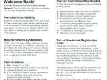 Free Family Reunion Agenda Template