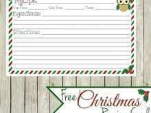 11 Customize Christmas Recipe Card Template Free Editable Formating for Christmas Recipe Card Template Free Editable