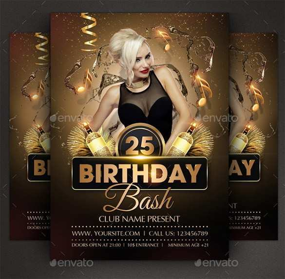 11 Customize Our Free Birthday Flyer Template Psd PSD File by Birthday Flyer Template Psd