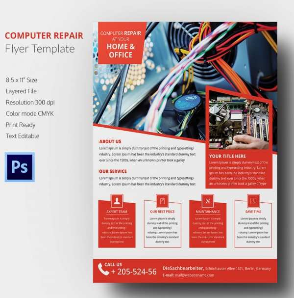11 Customize Our Free Computer Repair Flyer Word Template For Free with Computer Repair Flyer Word Template