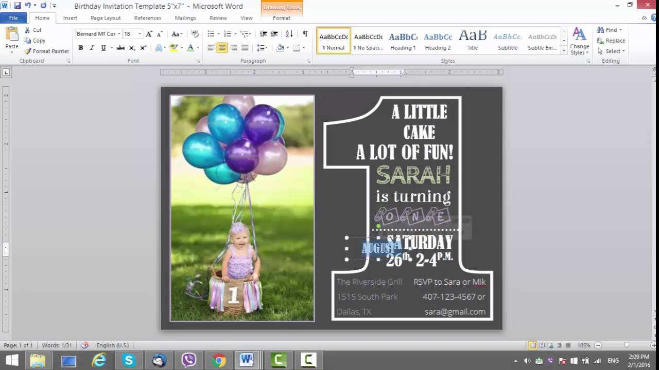 11 Customize Our Free Invitation Card Template In Ms Word Download for Invitation Card Template In Ms Word