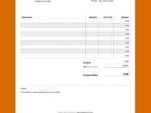 Blank Invoice Template Pdf