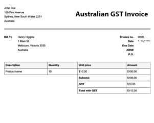 11 Format Blank Tax Invoice Template Free Download for Blank Tax Invoice Template Free