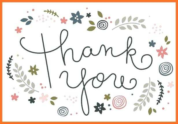 11 Format Thank You Card Template Images Templates for Thank You Card Template Images