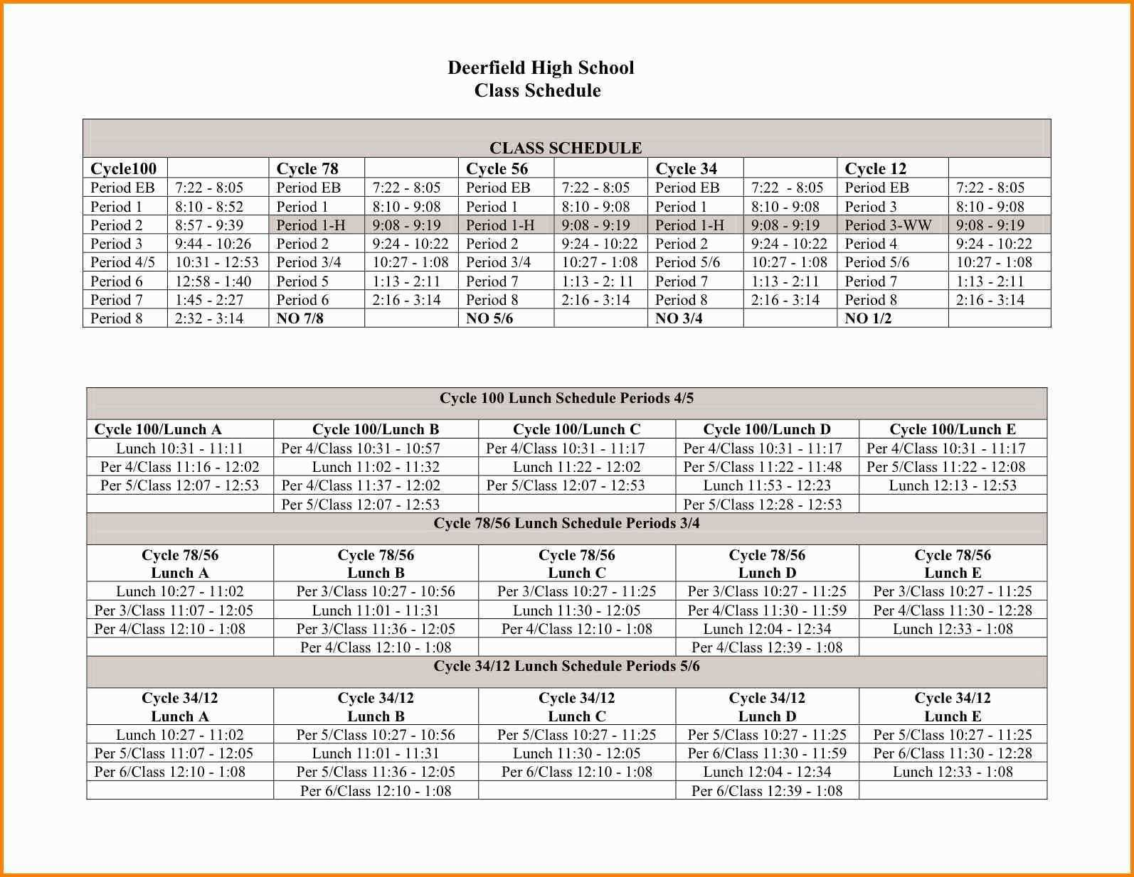 11 Free 8 Period Class Schedule Template Templates with 8 Period Class Schedule Template