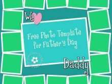 Fathers Day Card Photoshop Template