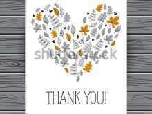 11 Printable Heart Thank You Card Template Templates with Heart Thank You Card Template