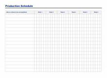 11 Report Production Schedule Sample Template Layouts for Production Schedule Sample Template