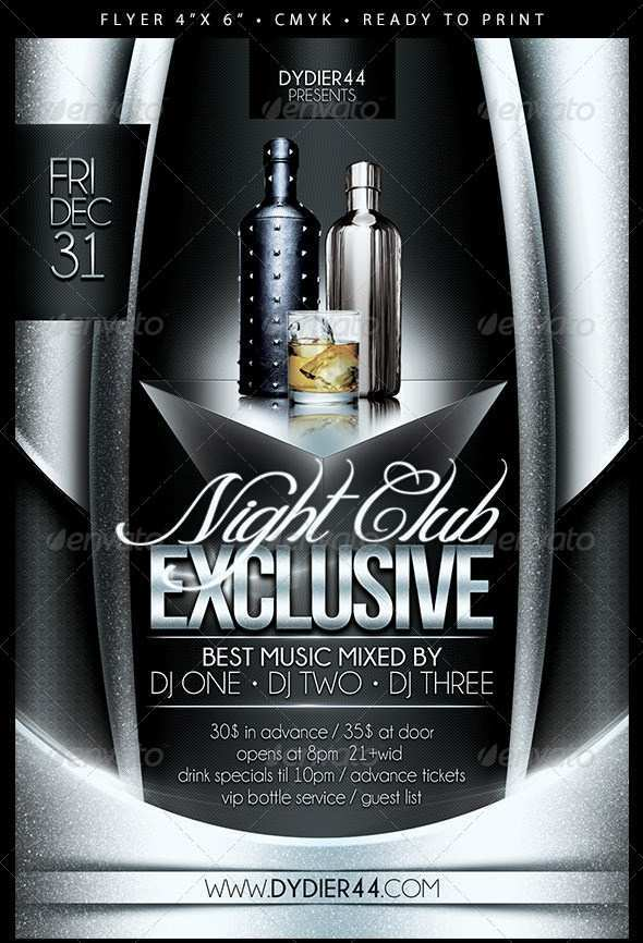 11 Standard Club Flyer Template Psd For Free with Club Flyer Template Psd