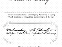 11 Standard Farewell Invitation Card Template Free Photo with Farewell Invitation Card Template Free