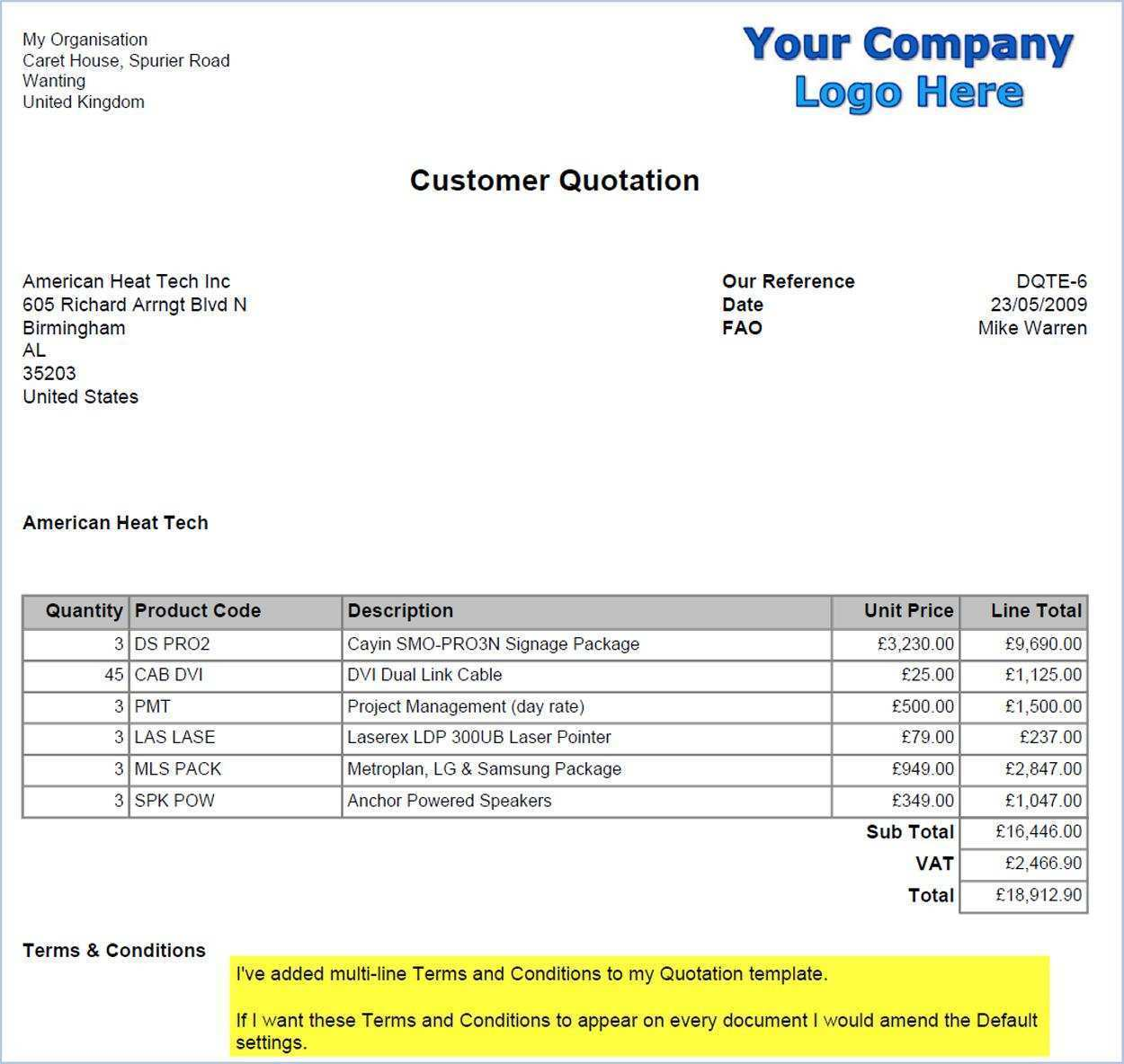 11 Standard Invoice Example Pdf For Free for Invoice Example Pdf