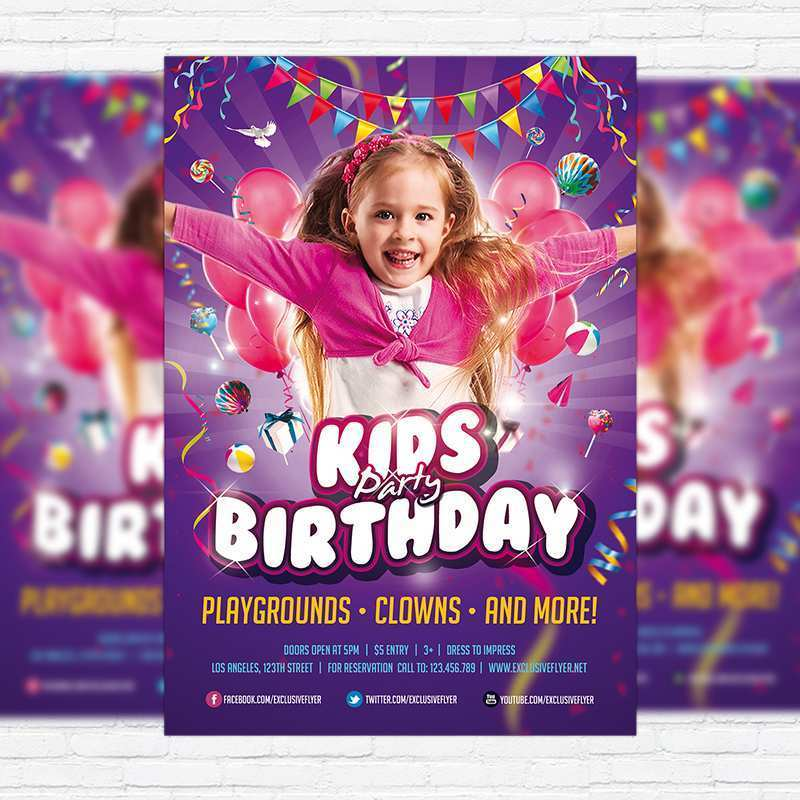 11 The Best Birthday Party Invitation Flyer Template for Ms Word by Birthday Party Invitation Flyer Template
