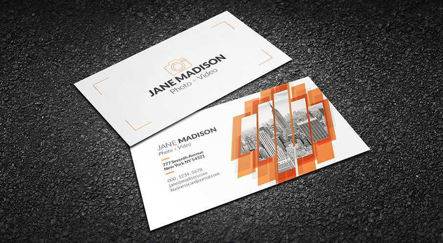 11 The Best Name Card Template Photographer PSD File with Name Card Template Photographer