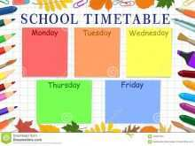 12 Adding Back To School Schedule Template For Free for Back To School Schedule Template