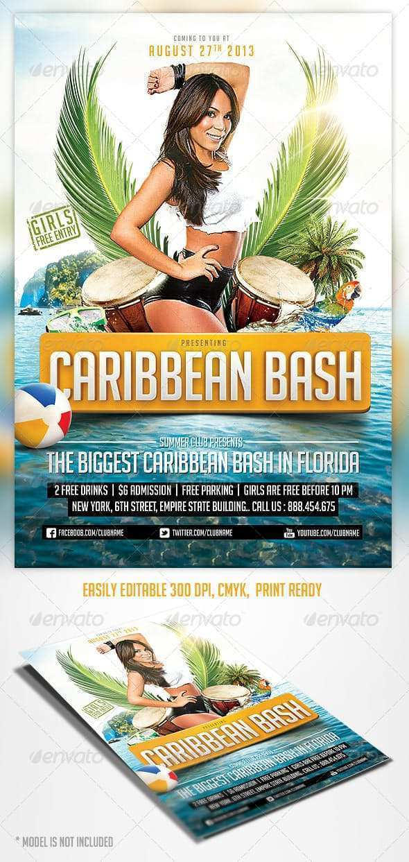 12 Adding Caribbean Party Flyer Template Download for Caribbean Party Flyer Template