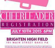 12 Best Cheer Camp Flyer Template With Stunning Design with Cheer Camp Flyer Template