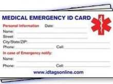 12 Blank Emergency Id Card Template With Stunning Design by Emergency Id Card Template