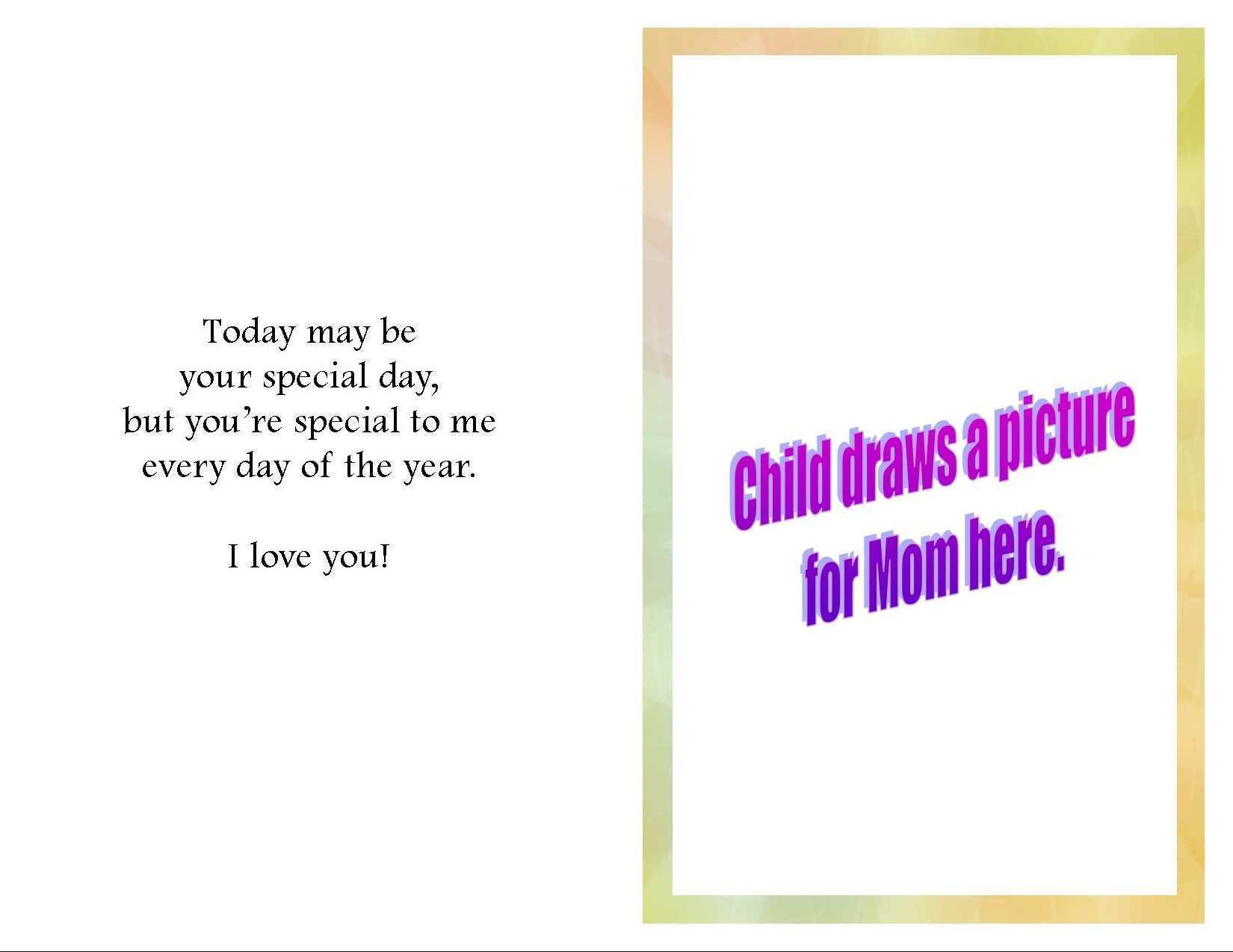 12 Blank Mother S Day Card Inside Templates Templates by Mother S Day Card Inside Templates