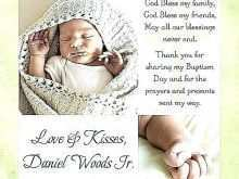 Thank You Card Template Christening