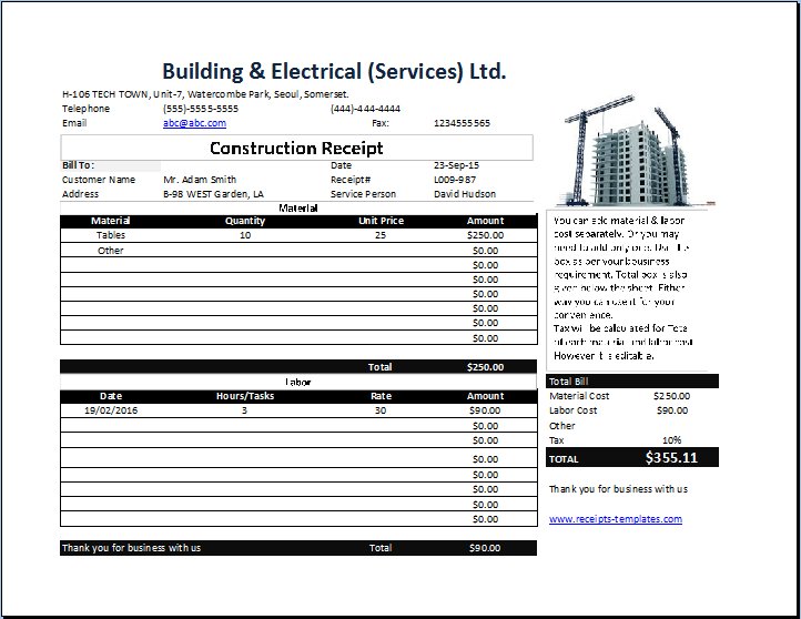 12 Create Construction Job Invoice Template Templates for Construction Job Invoice Template