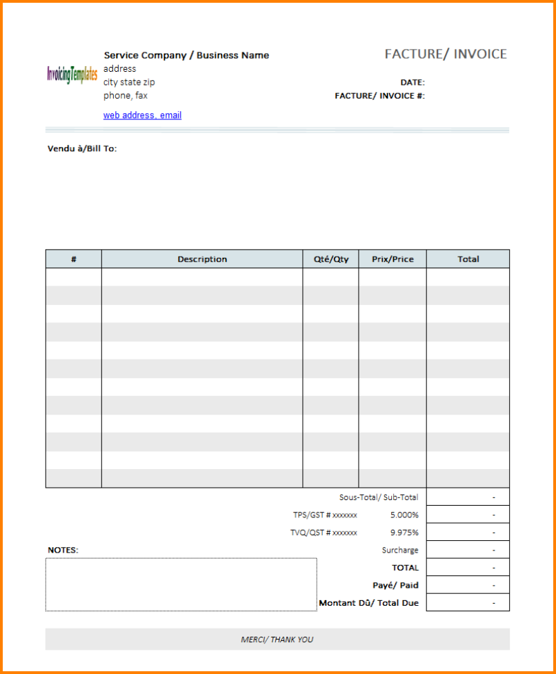 Blank Invoice Template Free from legaldbol.com