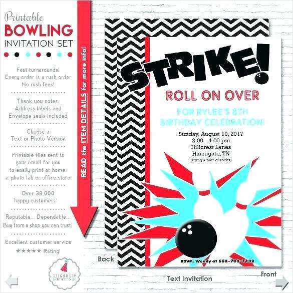 12 Creative Bowling Party Flyer Template Now by Bowling Party Flyer Template