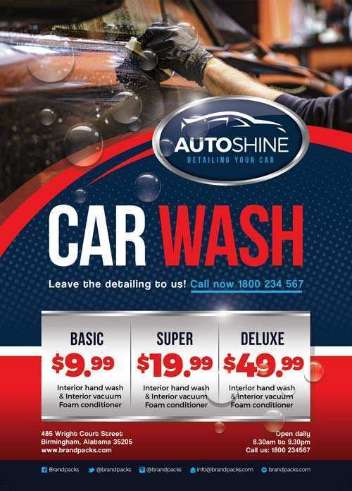 12 Creative Car Wash Flyer Template Free in Word by Car Wash Flyer Template Free