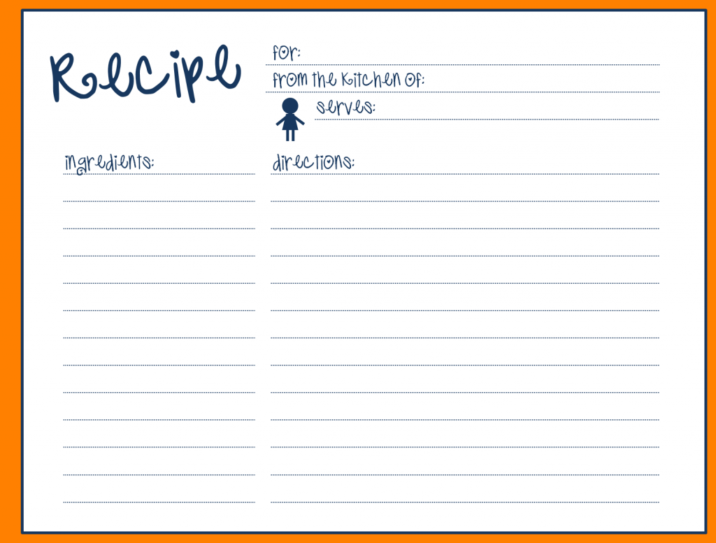 24 Creative Fillable Recipe Card Template For Word in Word by In Full Page Recipe Template For Word