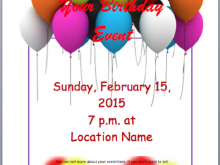 12 Customize Free Birthday Flyer Template Word Templates with Free Birthday Flyer Template Word