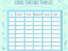 Class Schedule Template Elementary School