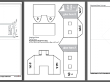 12 Free Christmas Card House Template Maker by Christmas Card House Template