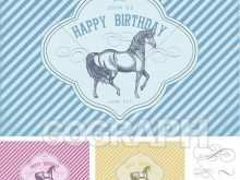 12 Free Printable Birthday Card Template Horse in Photoshop by Birthday Card Template Horse