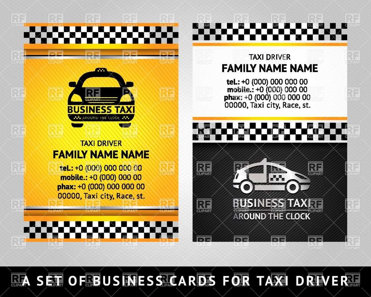 12 Free Printable Business Card Template Taxi for Ms Word for Business Card Template Taxi