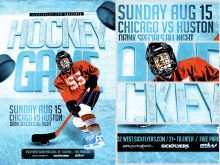 12 Free Printable Free Hockey Flyer Template Now by Free Hockey Flyer Template