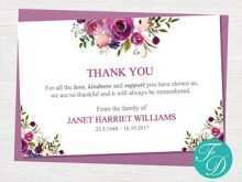 12 Free Printable Thank You Card Templates For Funeral PSD File for Thank You Card Templates For Funeral