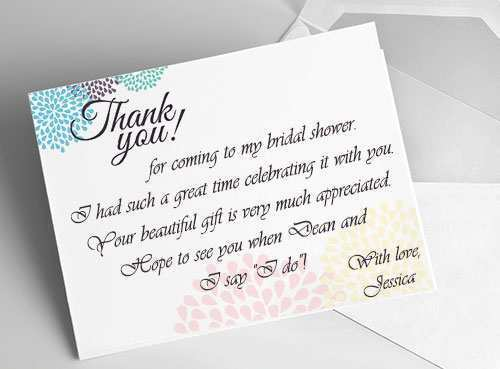 12 How To Create Bridal Shower Thank You Card Templates Photo with Bridal Shower Thank You Card Templates