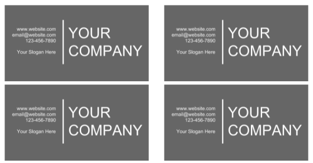 Create Business Card Templates
