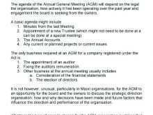 12 Report Agm Agenda Template South Africa Layouts for Agm Agenda Template South Africa