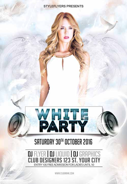 13 Blank All White Party Flyer Template Free For Free for All White Party Flyer Template Free