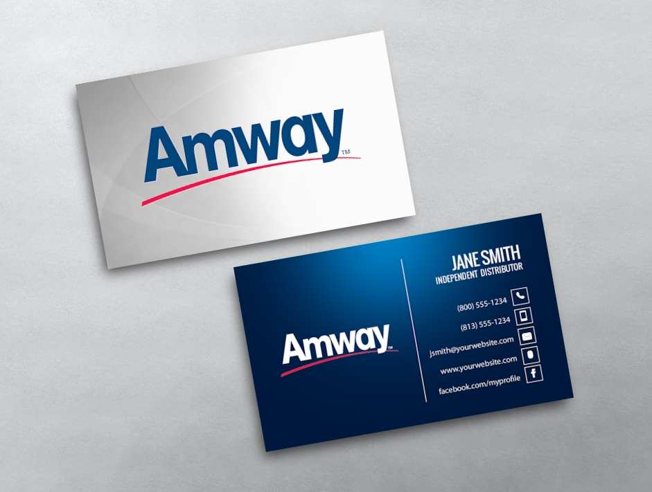 13 Blank Amway Name Card Template For Free by Amway Name Card Template