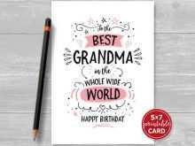 13 Blank Birthday Card Templates For Grandma For Free with Birthday Card Templates For Grandma