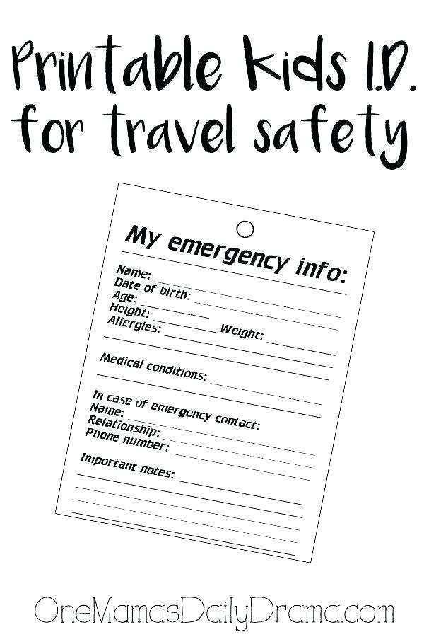 13 Create Emergency Id Card Template Templates with Emergency Id Card Template