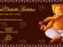20 Report Invitation Card Format For Ganesh Chaturthi For Ms