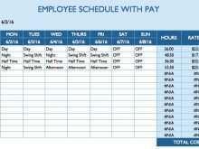 Daily Agenda Sheet Template