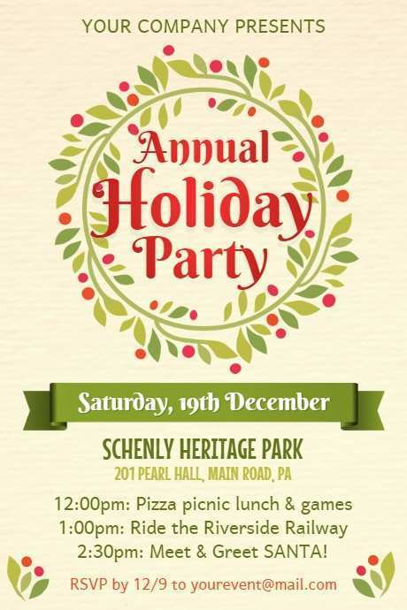Holiday Party Flyer Template Free from legaldbol.com