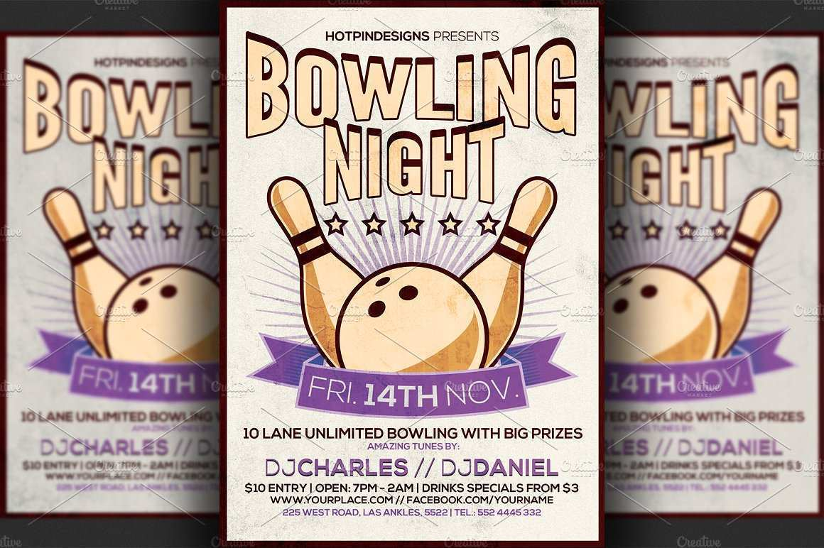 13 Creative Bowling Event Flyer Template in Word with Bowling Event Flyer Template