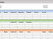 13 Creative Business Travel Itinerary Template Excel Formating with Business Travel Itinerary Template Excel