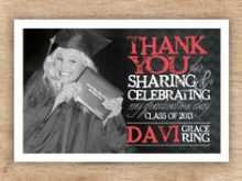Graduation Card Thank You Note Template